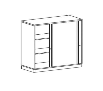 BAG Buerosysteme Produktwelten Shop Schwebetuerenschrank 3OH