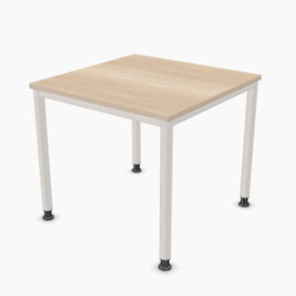 Palmberg SINAC Schreibtisch E Rundrohr 80 x 80 cm