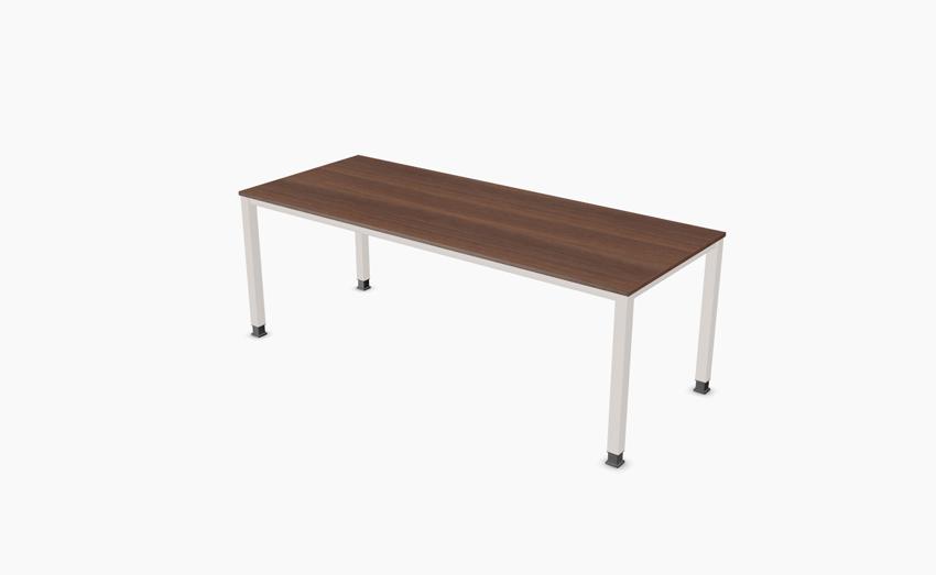 palmberg sinac schreibtisch q quadratrohr 200 x 80 x 68 76 cm bag b ro objekteinrichtungen. Black Bedroom Furniture Sets. Home Design Ideas