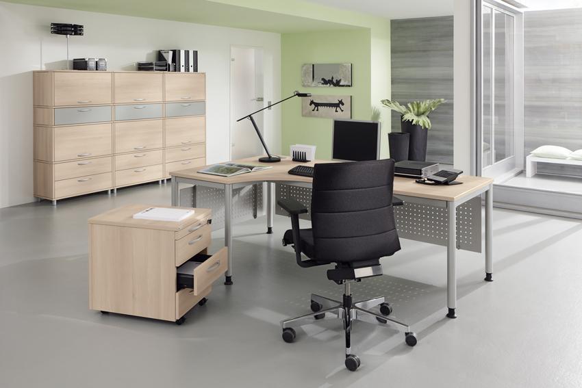palmberg sinac schreibtisch e rundrohr 100 x 80 x 68 76 cm bag b ro objekteinrichtungen. Black Bedroom Furniture Sets. Home Design Ideas