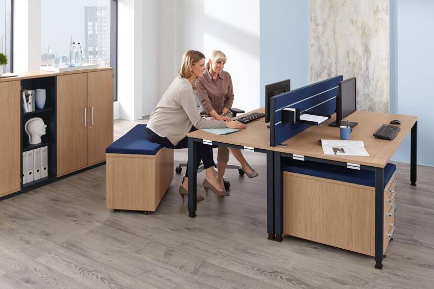 Palmberg Systo-Tec Schreibtisch Quadratrohr bei Büromöbel Duisburg im BAG Onlineshop.