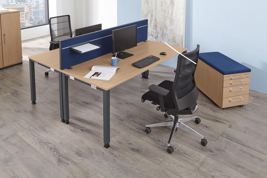 palmberg systo tec schreibtisch q quadratrohr 120 x 80 x 68 76 cm bag b ro objekteinrichtungen. Black Bedroom Furniture Sets. Home Design Ideas