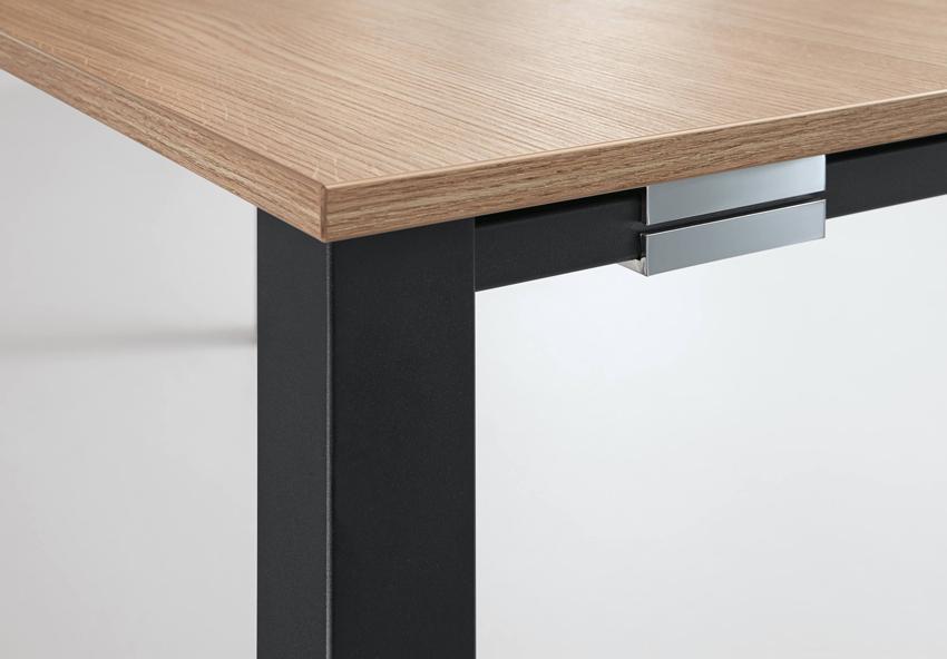 palmberg systo tec schreibtisch q qadratrohr 100 x 80 x 68 76 cm bag b ro objekteinrichtungen. Black Bedroom Furniture Sets. Home Design Ideas